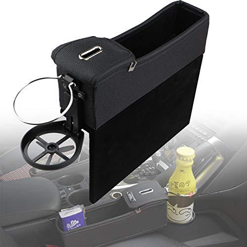 Wittyware Premium PU-Leder-Seitentaschen-Organizer (links, schwarz)