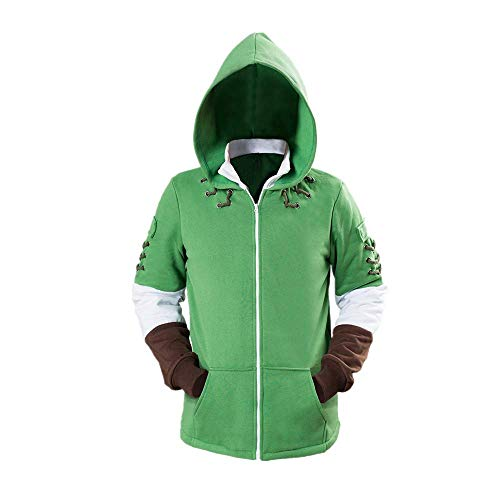 JLCYYSS Juego The Legend of Zelda Link Cosplay Traje Cremallera Sudadera Pullover Coat Jacket para Mujeres Hombres Regalo