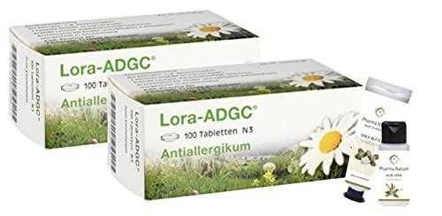Loratadin Lora ADGC 100 Filmtabletten Sparset bestehend aus 2 x 100 Loratadin und 1 x Handcreme (ODER Handseife) der Marke Pharma Nature