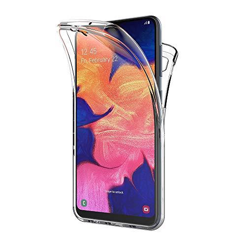 AICEK Cover Samsung Galaxy M10 / Samsung Galaxy A10, 360°Full Body Cover Samsung M10 Silicone Case Molle di TPU Trasparente Sottile Custodia per Samsung A10 (6.2 Pollici)