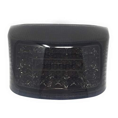 ASSA - Feu Arrière Scooter LED Noir - Clignotants Intégrés - Homologué CE - Compatible MBK Booster 50 Compatible Yamaha Bw'S 50