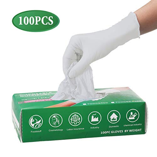 50 Pairs Gloves Ship From USA, Disposable, Powder Free, Soft Industrial Gloves, Latex Free, Cleaning Glove For Family Use,Arrive in 7-10 Days (S,White)