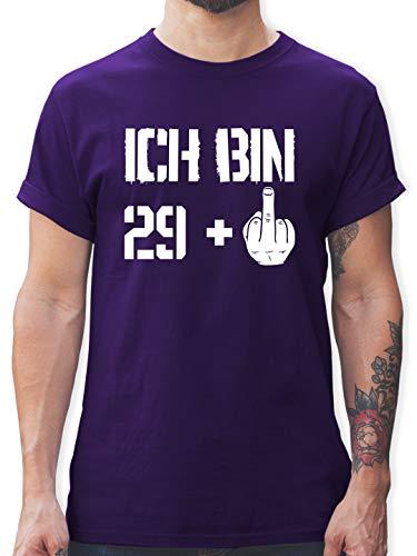 Geburtstag - Ich Bin 29 + - M - Lila - Shirt 30 Geburtstag - L190 - Tshirt Herren und Männer T-Shirts