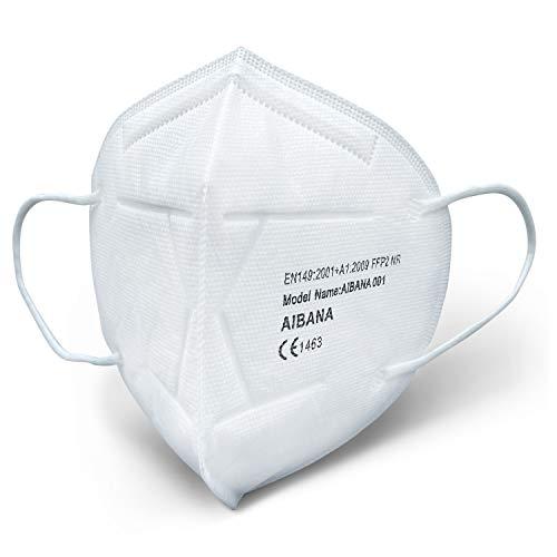 AIBANA 20x FFP2 Maske Atemschutzmaske - EU CE zertifizierte Masken nach EN149:2001+A1:2009