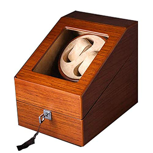 CARLAMPCR Watch Winder/Wooden Watch Winder Watch Box, 2+3 Winder Position, 5 Rotation Modes/For Any Automatic Watch
