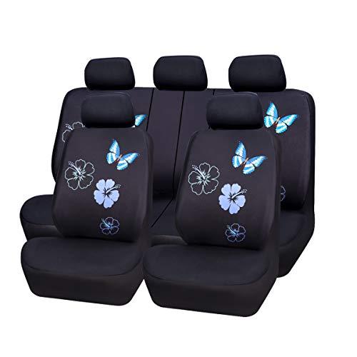 CAR PASS Universal Auto Schonbezug Komplettset Sitzbezüge für Auto Mit Butterfly