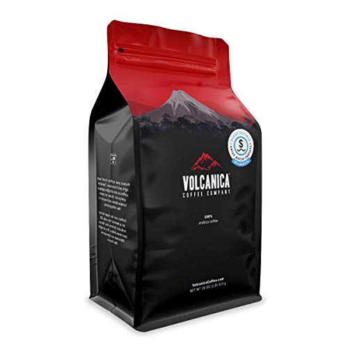 Volcanica House Decaf Coffee, Whole Bean, Swiss Water Processed, Fresh Roasted, 16-ounce