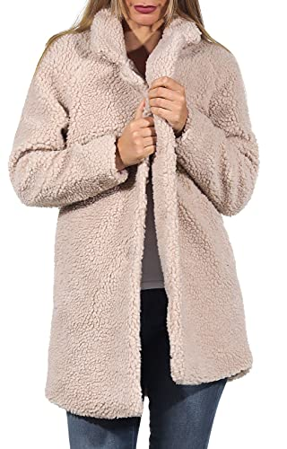ONLY Damen Kurzmantel Aurelia Sherpa Coat 15209080 Cuban Sand M