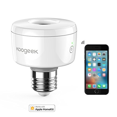 Koogeek Smart Socket Wi-Fi Aktiviert E27 Glühbirne Adapter Arbeitet mit Apple HomeKit Unterstützung Siri Voice Control Home App auf Netzwerk