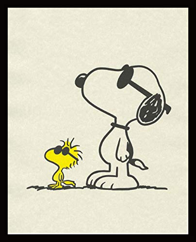 Woodstock and Snoopy with Sunglasses Image Wall Decor Prints Artwork Picture Home Office Bedroom Nursery Kitchen - unframed