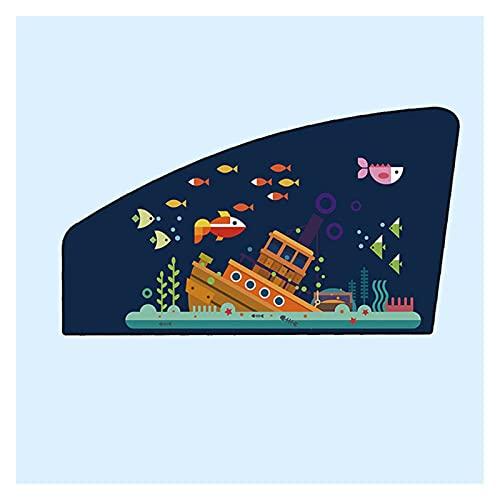 Yanqhua Cortinas de Coche Patrón de Dibujos Animados Universal de sombrilla de Coche Fuerte Cubierta de Cortina de sombrilla magnética Fuerte para Evitar la luz Solar Directa (Color : D Co Pilot)