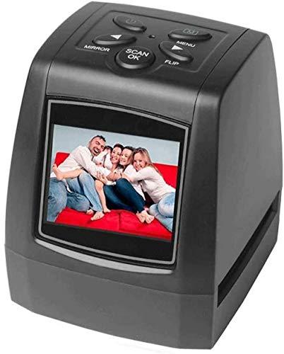 Escáneres fotográficos para imágenes Antiguas con alimentador Todo en 1 Convierte Negativos de película de 35 mm / 135 mm y Diapositivas de Amplificador a 5/10 megapíxeles Imágenes JPEG-2 Pantalla L