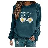 Mingtu Damen Kapuzenpullover Frühling Dünn Sweatshirts Tunika Langarm Rundhals Sportswear Frauen Shirts Casual Klassischer Tops Oberteile