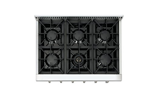 Thorkitchen Pro-Style Gas Rangetop with 6 Sealed Burners 36 - Inch, Stainless Steel HRT3618U 2 2 Year Parts and Labor CSA Certified 304 stainless steel