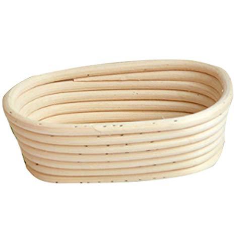 Cuenco para masas Pequeña, Cesta para Masa y fermentación de Pan (Cesta Oval, 45 * 19 * 8cm)