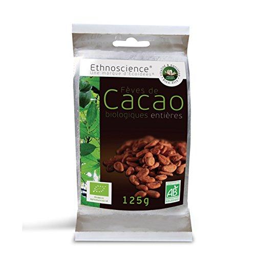 Fèves de cacao séchées - Fèves de cacao crues - Fèves de caco non torréfiées - Fève de cacao non fermentées - Cacao Criollo Bio | 125g | Ecoidées