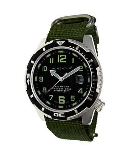 MOMENTUM Herren Analog Japanischer Quarz Uhr mit Nylon Armband 1M-DV52B7G