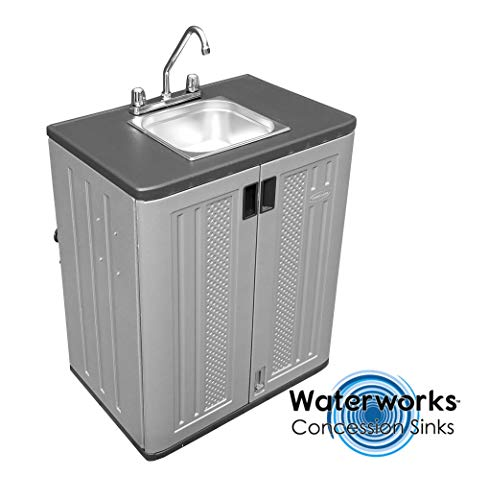 Concession Sinks - Standard Size Electric 1 Compartment with Hot Water for Food Vending Trailer, Hand Wash