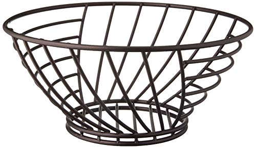 Spectrum Diversified Wright Small Steel Wire Produce Basket, Fruit Basket & Vegetable Holder, Modern Kitchen Countertop Food Storage Bowl