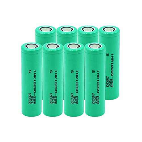 THENAGD Corriente De Descarga 3.7v Inr 18650-25r 2500mah Batería De Litio Ion De Litio, Celdas De Reemplazo Recargables 8pieces