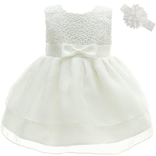 Dream Rover Taufkleid für Mädchen, Zhht265-white-3m, Weiß, ZHHT265-white-3M