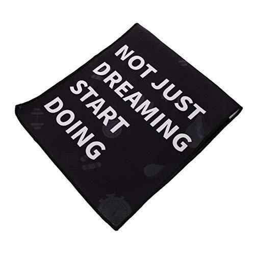VORCOOL Toalla de gimnasio para entrenamiento, toalla de sudor para hombre, súper absorbente, secado rápido, fitness, ejercicio, para sudor, color negro