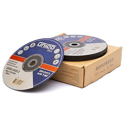 25 Stück Trennscheibe 230 Metall - 25x Trennscheiben 230 x 2,0 mm / Flexscheiben 230 Metall Extradünn 2mm / Bohrung: 22,23 mm / für Trenn- oder Winkelschleifer