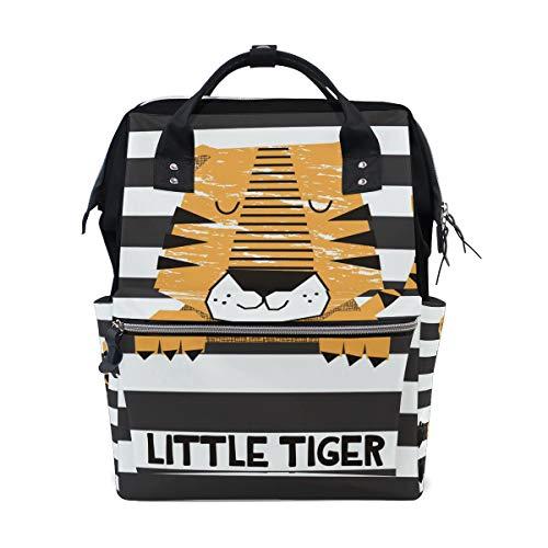 Sac à dos à langer Little Tiger à rayures pour maman Sac à langer grande capacité Sac de voyage pour femme Sac à dos d'école Sac de randonnée