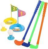 Minigolf,Kinder Golf Club Set Garten Kunststoff Spielzeug Warenkorb Caddy Bälle Tasche Eltern-Kind Interaktives Spiel Sommer Strand Outdoor Sports Ball Anzug