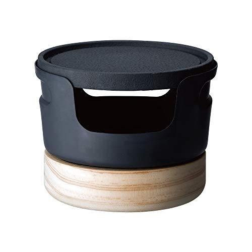 ドウシシャ 鉄焼プレート じゅーじゅー厚焼き 10cm 固形燃料 ブラック レシピ付き LivE