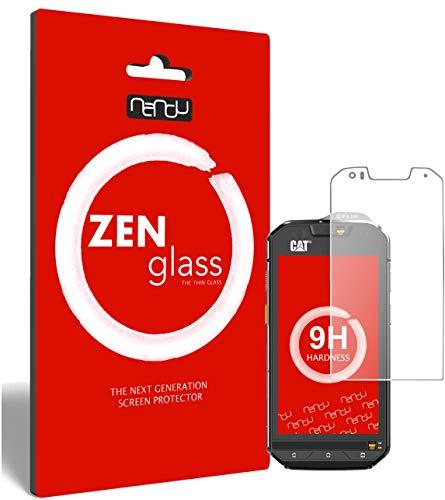 ZenGlass Flexible Glas-Folie kompatibel mit CAT S60 Panzerfolie I Bildschirm-Schutzfolie 9H