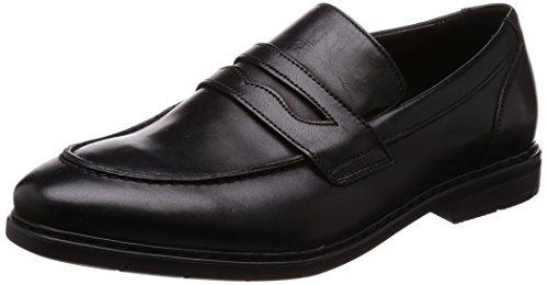 Clarks Men Banbury Step Black Leather Loafers-6.5 UK/India...