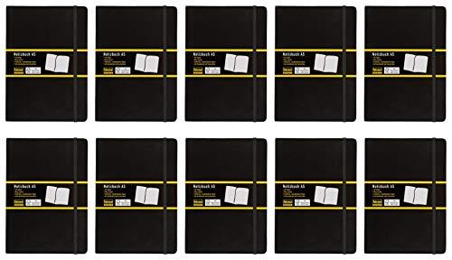 Idena Notizbuch (A5   10er Pack, kariert)
