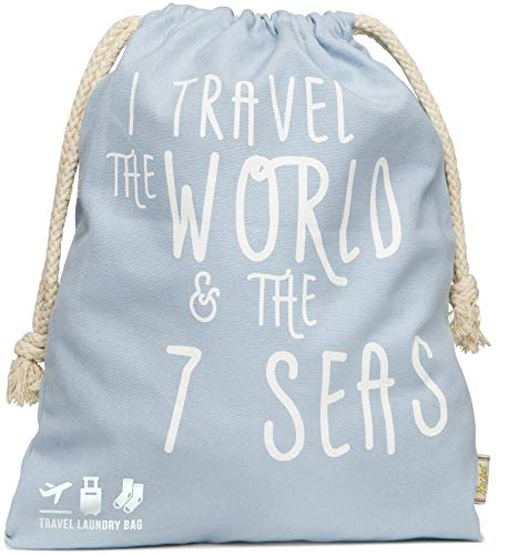Rocket Drawstring Laundry Bag - Foldable Storage Bag Stuff Sack Cotton Canvas Drawstring Bag for Home College Dorm Shoes Clothing Storage Bags or Camping Beach Gym Travel Laundry Bags