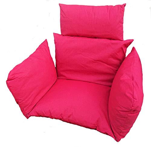 Rattani - Polster, Kissen, Auflage für Rattan Hängeschaukel Schaukelstuhl Rattanschaukel Gr. Sitzfläche 60 x 50 cm Stoff Polyester rot - Made in EU