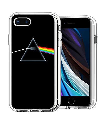 Pink Floyd Pyramid Case Compatible with Ultra-Thin Shockproof TPU Bumper Cover for Apple iPhone 7 Plus/8 Plus (5.5 inch)