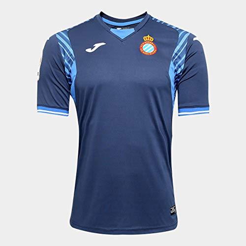 Joma RCD Espanyol Segunda Equipación 2017-2018, Camiseta, Azul Marino, Talla M
