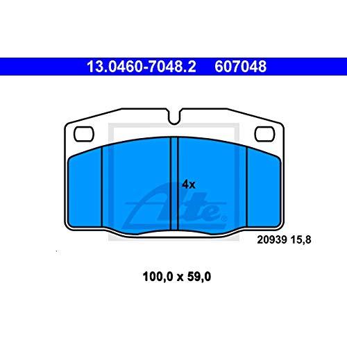 Preisvergleich Produktbild ATE 13.0460-7048.2 Bremsbelagsatz,  Scheibenbremse