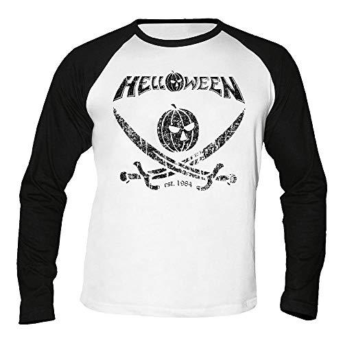 Helloween - German Metal Est. 1984 - Pirate Pumpkin - Baseball - Langarm - Shirt/Longsleeve Größe S