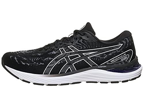 ASICS Men's Gel-Cumulus 23 Running Shoes, 9.5, Black/White