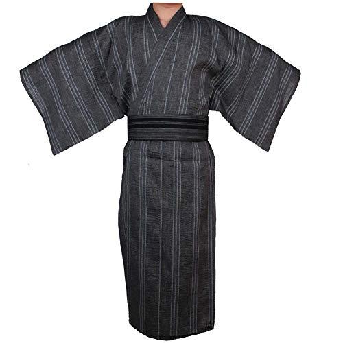 Kimono japonés Yukata japonés para Hombres Home Robe Vestido japonés para Pijamas # 08