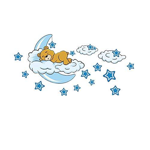 Bear Moon Stars - Adhesivo decorativo para pared
