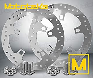 11.8 ENFORCER STYLE FRONT BRAKE ROTOR SET FOR HARLEY TOURING BAGGER MODELS 2014-UP W/HARDWARE
