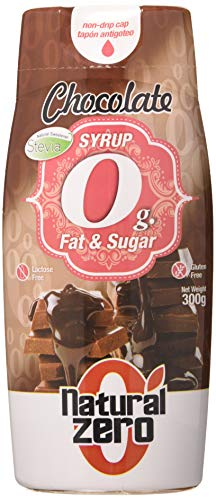 Natural Zero Sirope 0 Calorías-Sin Grasas-Sin Azúcar-300 gr Syrup Chocolate, 1 Unidad