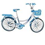 自転車玩具 1/10スケール ダイキャスト バイクモデル 自転車モデル 合金レーシング 全12カラー - 青 1