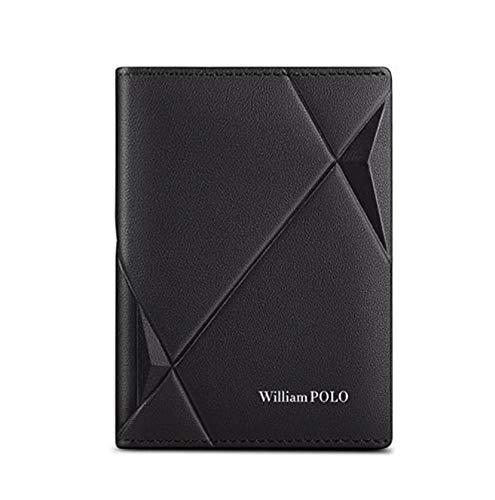 Carteira William Polo Masculina Original em Couro Legítimo Modelo Premium Leather - Preto