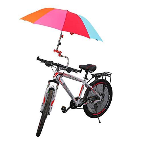 自転車傘スタンド, 傘立て さすべえ 折り畳み 360度回転, 傘差しホルダー 取り外し簡単 自転車/電動自転車/ハンドル/ベビーカー/車椅子/釣り 傘立てホルダー,赤