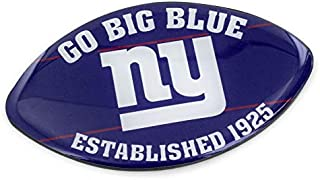 aminco NFL New York Giants Slogan Football MagnetSlogan Football Magnet, Multicolor, 6