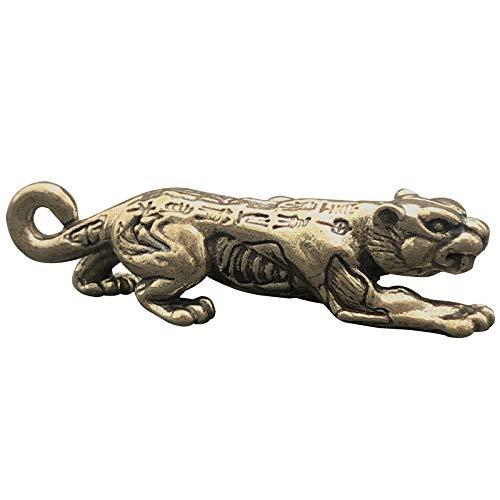 Glover Encanto de Tigre de Bronce Encanto de Tigre Creativo Token Adornos Antiguos Piezas de Mano Noche Antigua