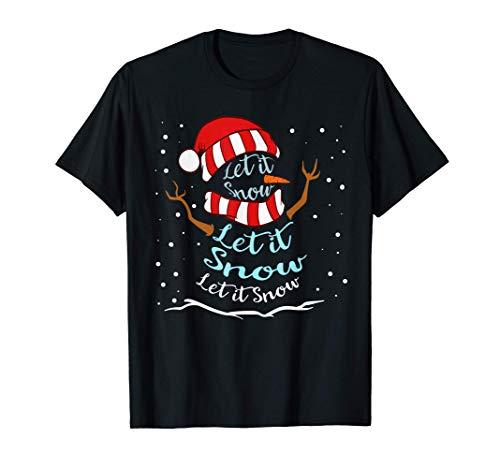 Let It Snow Snowman Snowflakes Tee Camiseta